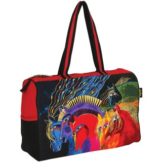 "Travel Bag Zipper Top 21""X8""X15""-Wild Horses Of Fire"