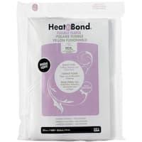 """Heat'n Bond Iron-On Fusible Fleece High Loft-White 22""""X36"""""""