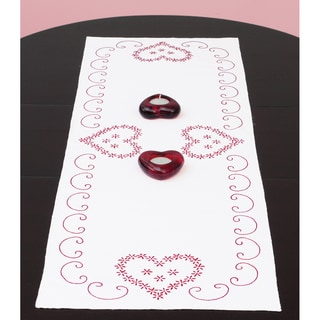 "Stamped Table Runner/Scarf 15""X42""-Valentine's Day"