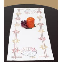 "Stamped Table Runner/Scarf 15""X42""-Thanksgiving"
