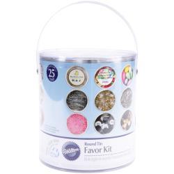 Favor Tin Kit 25/Pkg-Silver