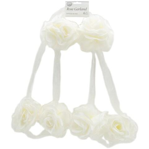 Rose Garland 6 Feet -White