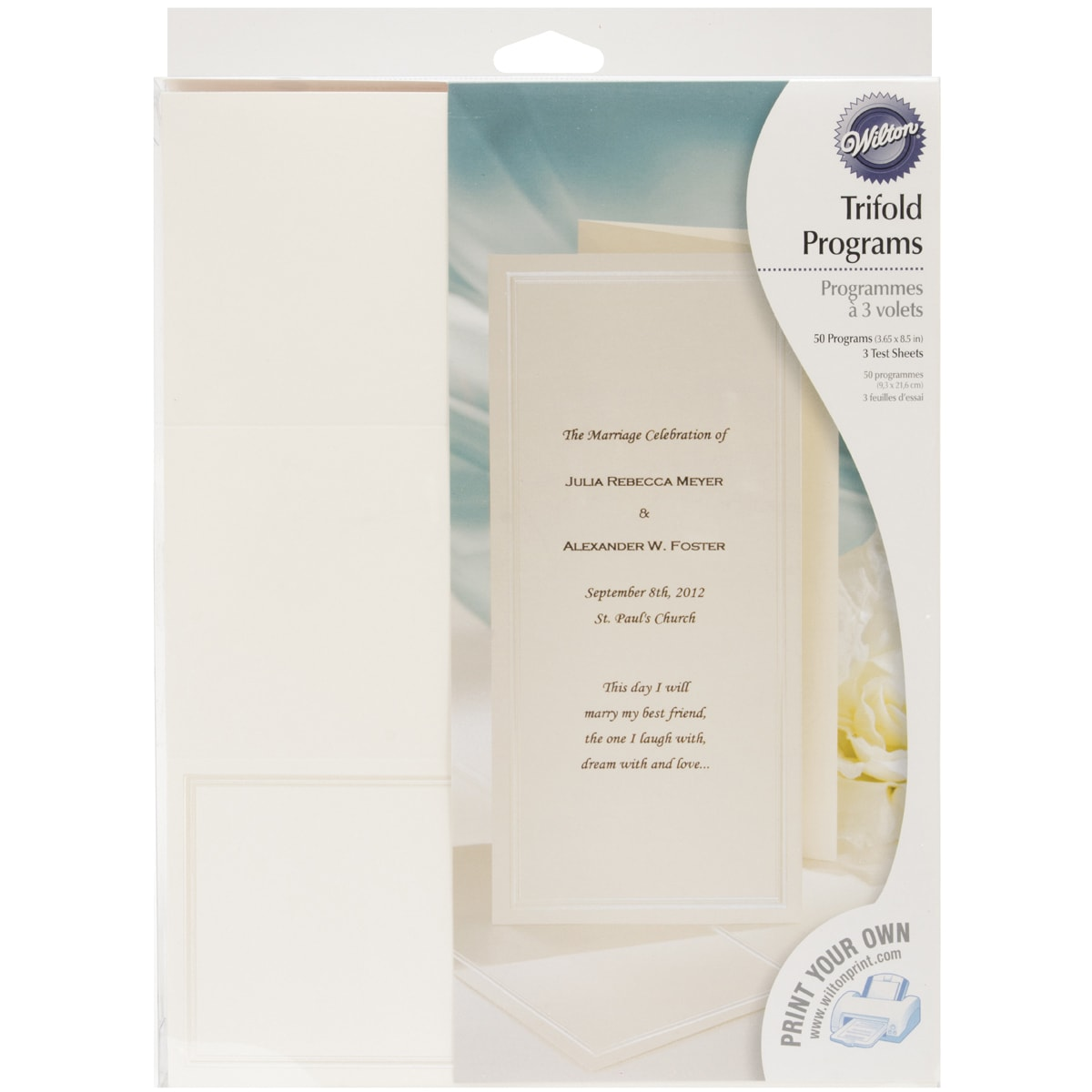 Tri-Fold Programs 50/Pkg-Keep With Tradition