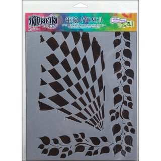 "Dyan Reaveley's Dylusions Stencils 9""X12""-Luscious Leaves"