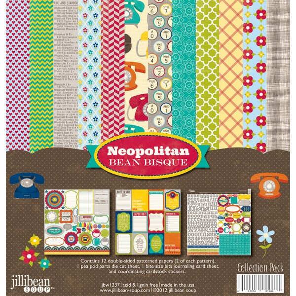 "Neopolitan Bean Bisque Collection Pack 12""X12IN"