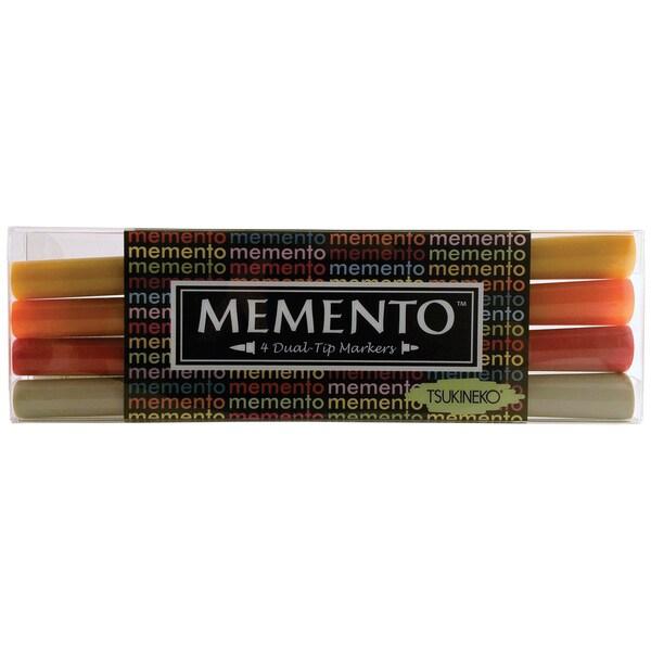 Memento Dual-Tip Markers 4/Pkg-Golden Sunset