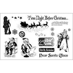 Rubber Stamp Set-Vintage Santas
