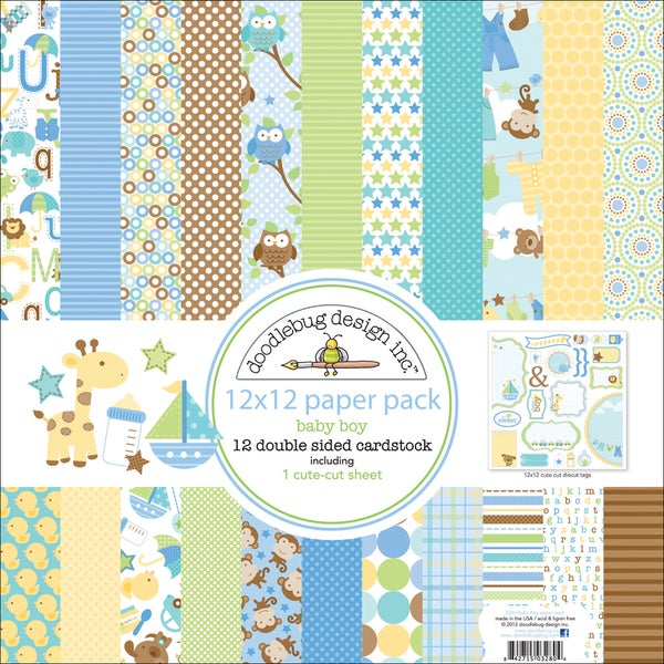 """Snips & Snails Paper Pack 12""""X12in"""