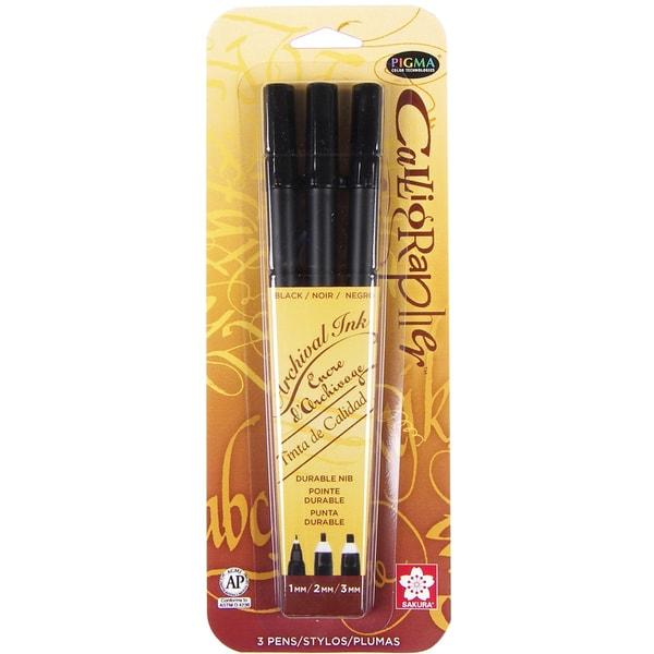 Sakura Pigma Calligrapher Three-pack Black Pen Set - 1mm, 2mm, 3mm