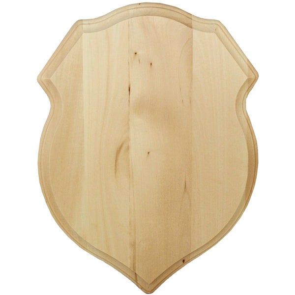 """Basswood Plaque 12""""X16""""X3/4""""-Shield Style"""