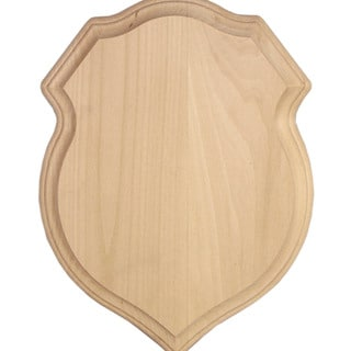 """Basswood Plaque 9""""X12""""X3/4""""-Shield Style"""