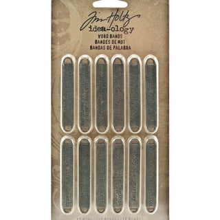 Tim Holtz Idea-ology Metal Word Decorative Bands (12-pack)