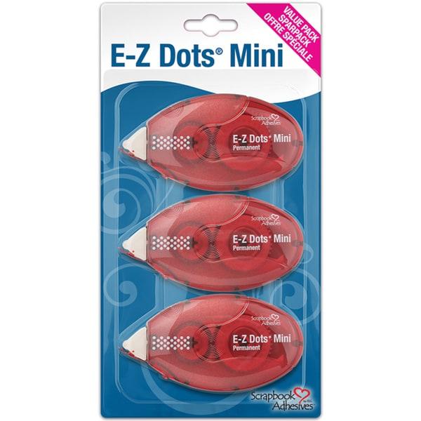 Mini Dots Permanent Adhesive Dispenser Value Pack 3/Pkg-
