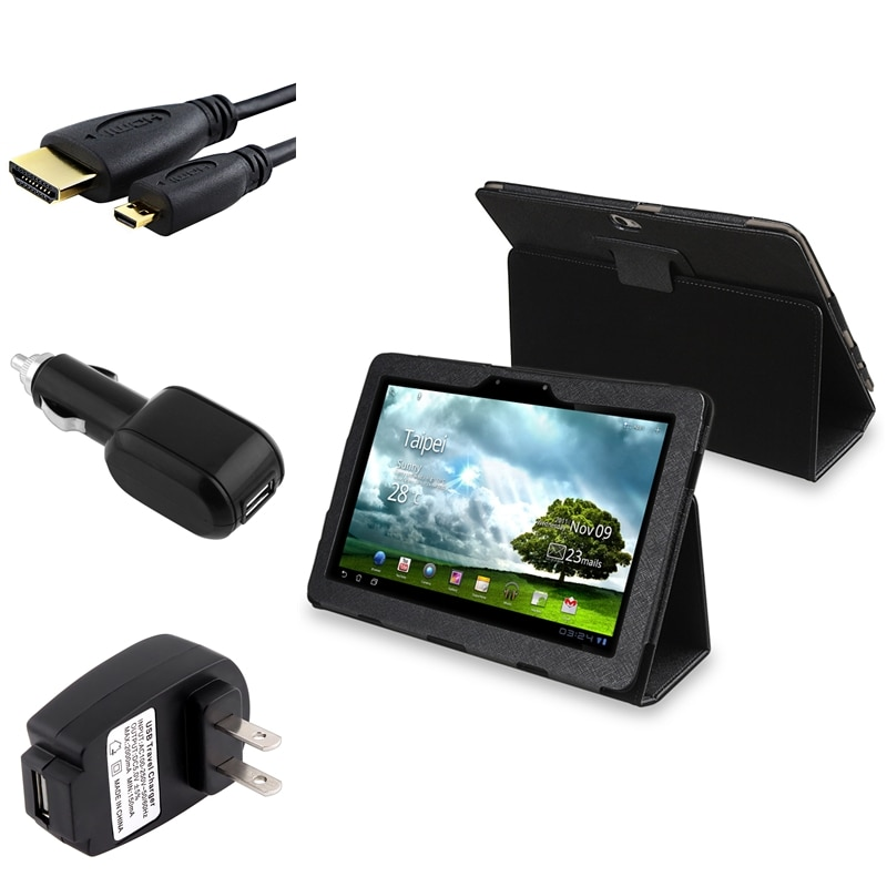 Black Case/ HDMI Cable/ Chargers for Asus Eee Transformer Prime TF201
