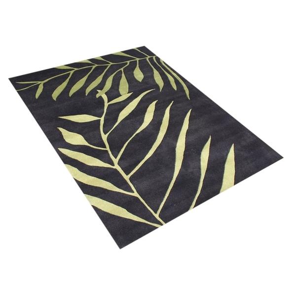 Alliyah Handmade Tender Green New Zealand Blend Wool Rug (8' x 10') - 8' x 10'