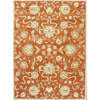 Alliyah Handmade Rusty Orange New Zealand Blend Wool Rug (6' x 9') - 6' x 9'