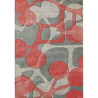 Alliyah Handmade Watermelon New Zealand Blend Wool Rug - 9' x 12'