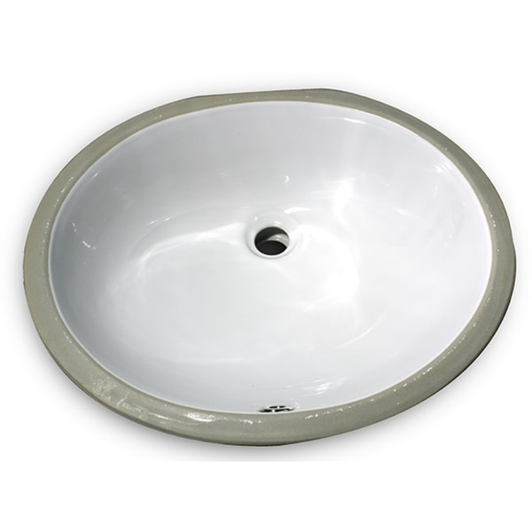 Highpoint Collection 17 x 14-inch Glazed Underside White Ceramic Sink