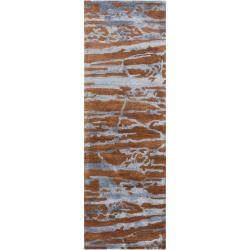 Hand-tufted Brown Caparo Street Abstract Wool Rug (2'6 x 8')