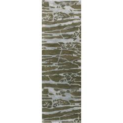 Hand-tufted Grey Caparo Street Abstract Wool Rug (2'6 x 8')