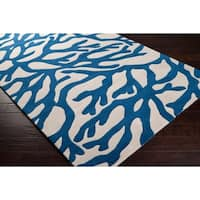 "Hand-tufted Bacelot Bay Beach Inspired Wool Area Rug - 2'6"" x 8'"