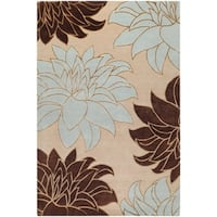 Hand-knotted Multicolored InsBeigece New Zealand Wool Area Rug - 5' x 8'