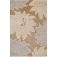 Hand-knotted Multicolored InsBrownce New Zealand Wool Area Rug - 9' x 13'