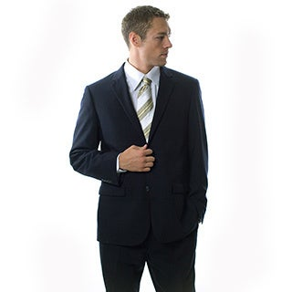 Montefino Mondo Men's 'Super 120 Merino' Navy Wool Suit