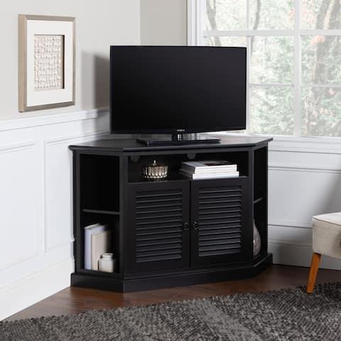 Copper Grove Cardinal 52-inch Black Corner TV Stand Console
