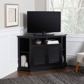 52 in. Black Wood Corner TV Stand|https://ak1.ostkcdn.com/images/products/6787460/P14324974.jpg?impolicy=medium