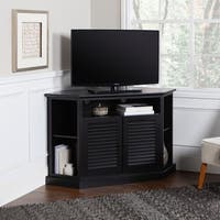 52-inch Black Wood Corner TV Stand