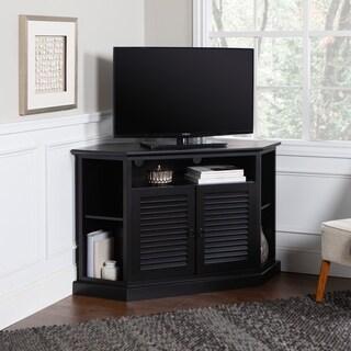 black wood corner tv stand