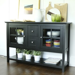 Black Wood 52-inch Console Table/Buffet