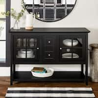 "52"" TV Console Buffet Cabinet - Black - N/A"