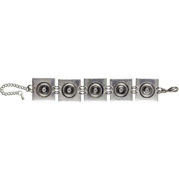 Snap In Style Metal Base 1/Pkg-Bracelet Square