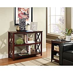 Remarkable Espresso Occasional Console Sofa Table Bookshelf Overstock Com Shopping The Best Deals On Coffee Sofa End Tables Ncnpc Chair Design For Home Ncnpcorg