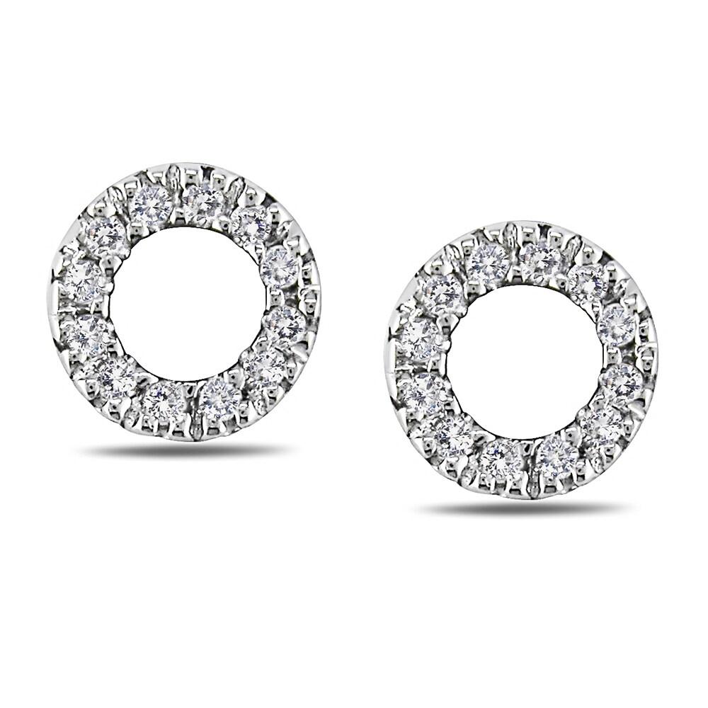 Miadora 14k White Gold 1/10ct TDW Diamond Earrings