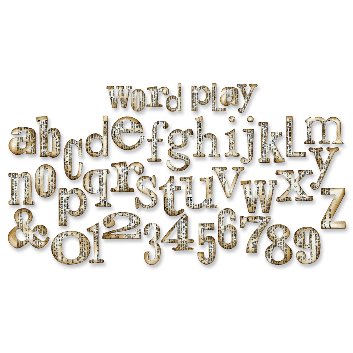 Sizzix Bigz XL Alphabet Cutting Embossing Die By Tim Holtz - Word Play