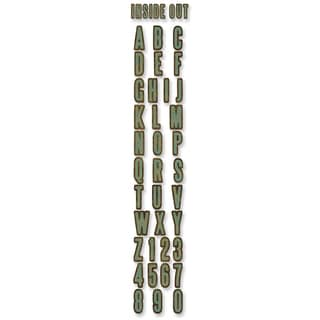 Sizzix Sizzlits Decorative Strip Alphabet Die By Tim Holtz-Inside Out