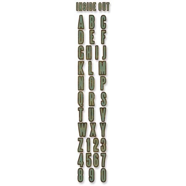 Sizzix Sizzlits Decorative Strip Alphabet Die By Tim Holtz-Inside Out