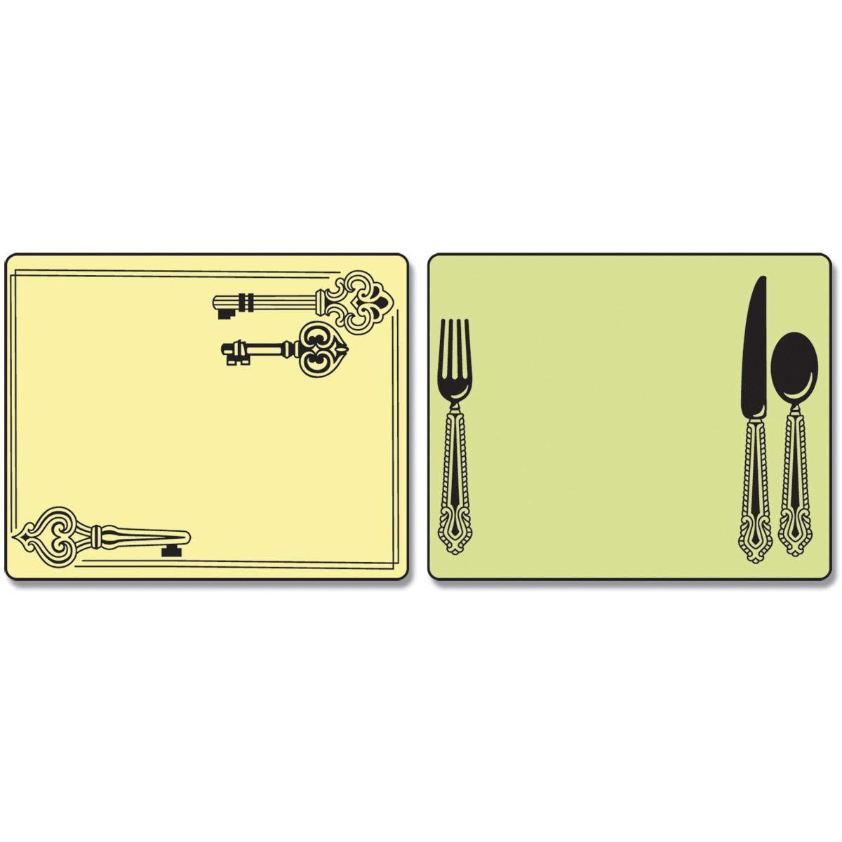 Sizzix Textured Impressions Embossing Folders 2/Pkg-Place Setting & Keys