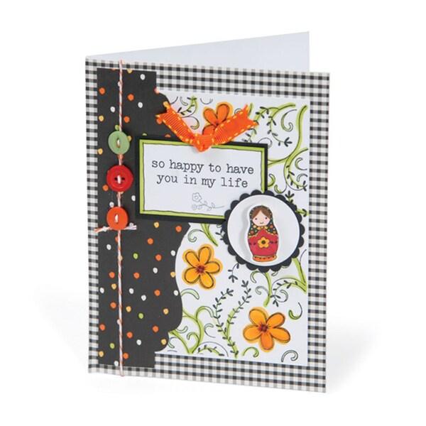 Sizzix Textured Impressions Embossing Folder & Stamp Set-Hero Arts Flowers & Vines