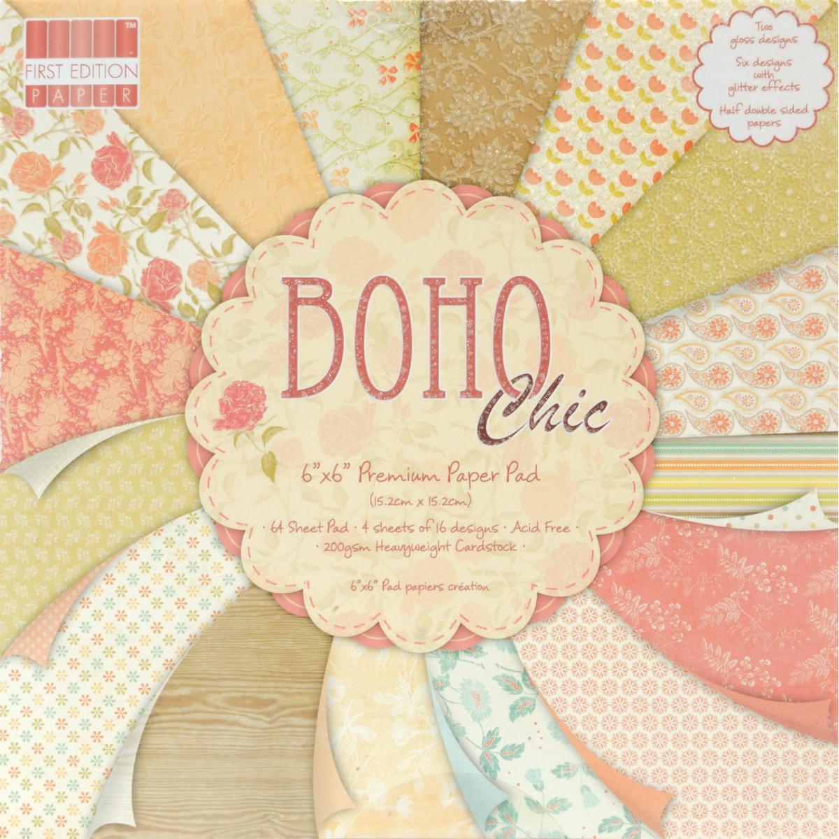"Premium Paper Pad 6""X6"" 64/Sheets-Boho Chic"