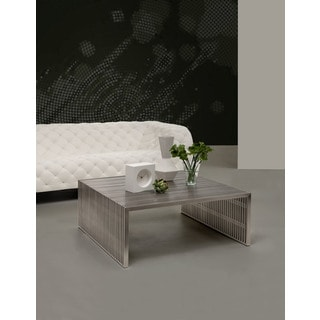Novel Square Stainless Steel Coffee Table - 38L x 39W x 16H