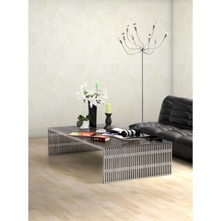 Shop Novel Long Stainless Steel Coffee Table Free
