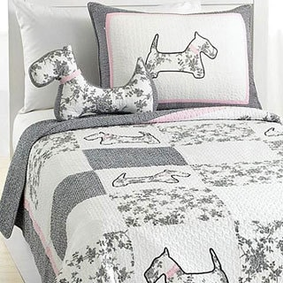 Scottie Pup 3-piece Quilt Set