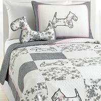 Scottie Pup 3-piece Cotton Quilt Set