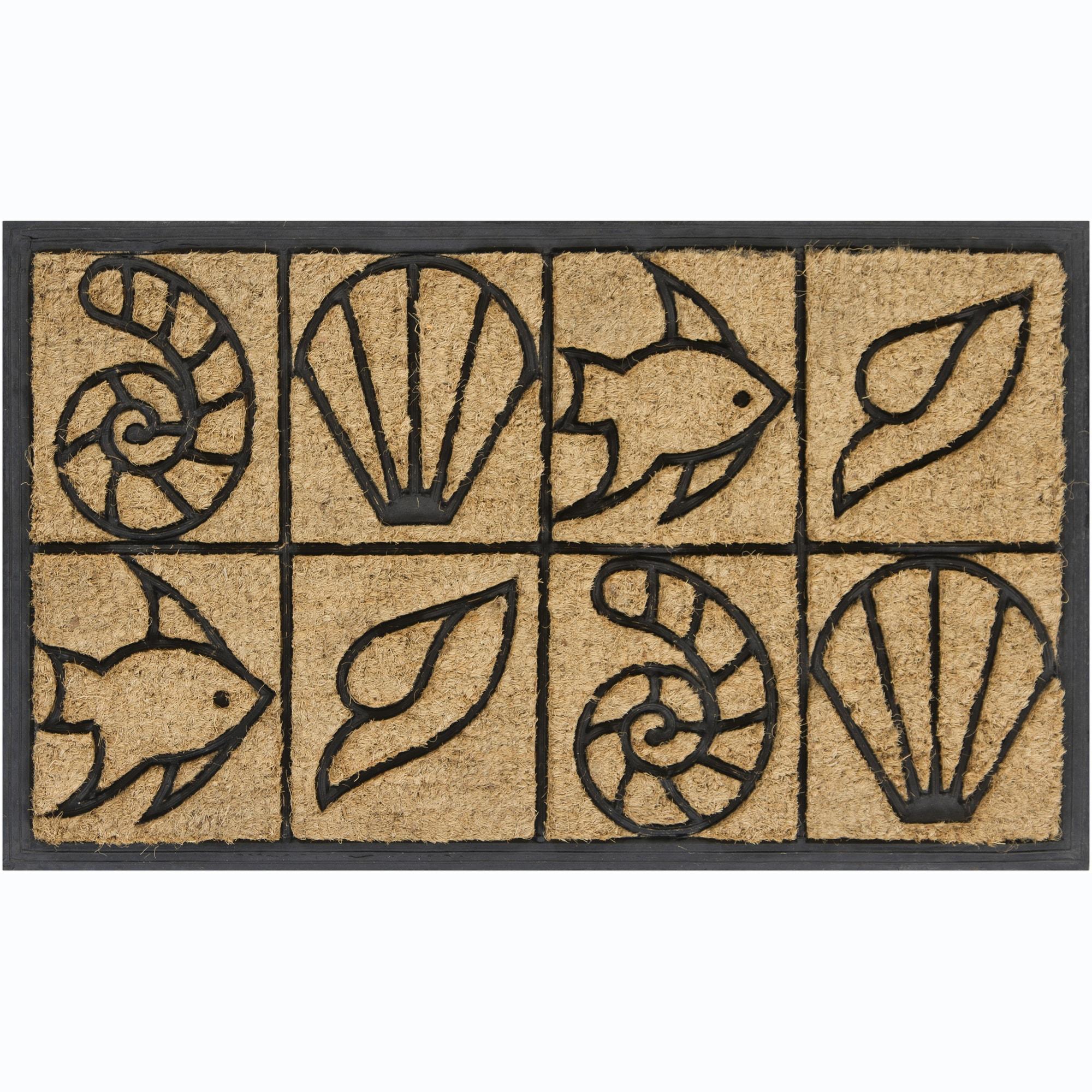 """Artist's Loom Coir/Rubber Door Mats (1'6"""" x 2'6"""") (Set of 2)"""