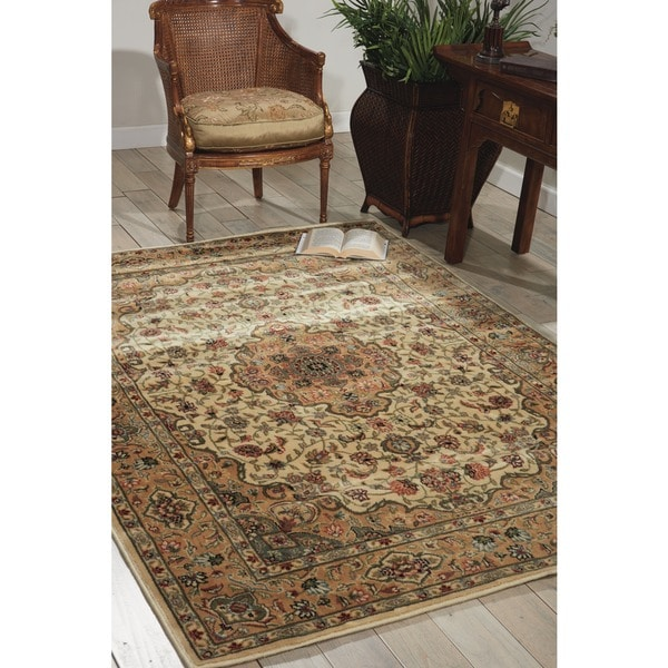 "Nourison Traditional Persian Arts Ivory Rug (5'3"" x 7'5"") - 5'3 x 7'5"