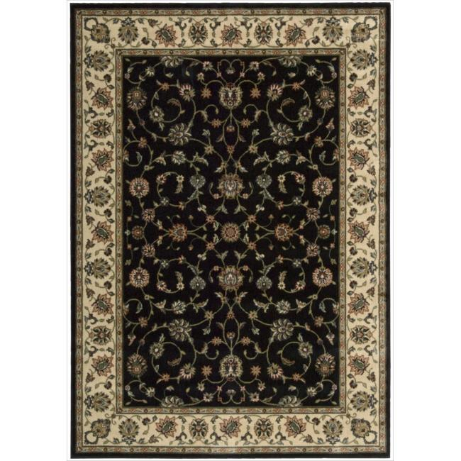 Nourison Persian Arts Black Rug - 5'3 x 7'5